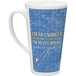 Engineer Quotes Latte Mug (Personalized)