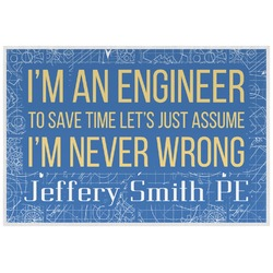 Engineer Quotes Placemat (Laminated) (Personalized)
