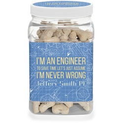 Engineer Quotes Dog Treat Jar (Personalized)