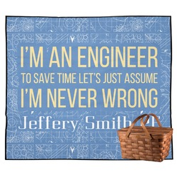 Engineer Quotes Outdoor Picnic Blanket (Personalized)