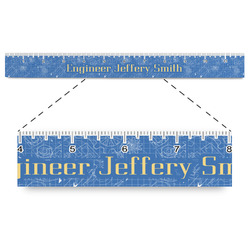 """Engineer Quotes Plastic Ruler - 12"""" (Personalized)"""