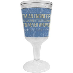 Engineer Quotes Wine Tumbler - 11 oz Plastic (Personalized)