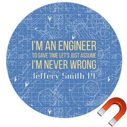 Engineer Quotes Car Magnet (Personalized)