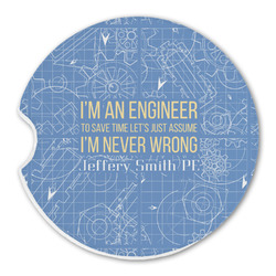 Engineer Quotes Sandstone Car Coasters (Personalized)