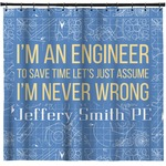 Engineer Quotes Shower Curtain (Personalized)