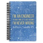 Engineer Quotes Spiral Notebook (Personalized)