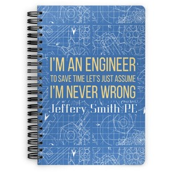 Engineer Quotes Spiral Bound Notebook (Personalized)