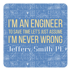 Engineer Quotes Square Decal - Medium (Personalized)