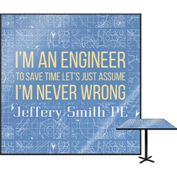 "Engineer Quotes Square Table Top - 30"" (Personalized)"