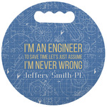 Engineer Quotes Stadium Cushion (Round) (Personalized)