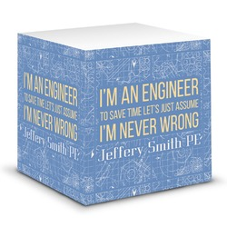 Engineer Quotes Sticky Note Cube (Personalized)