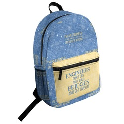 Engineer Quotes Student Backpack (Personalized)