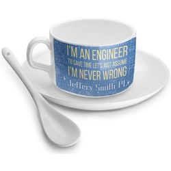 Engineer Quotes Tea Cup - Single (Personalized)