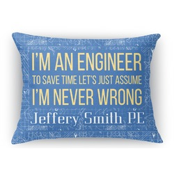 Engineer Quotes Rectangular Throw Pillow Case (Personalized)