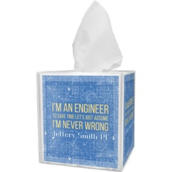 Engineer Quotes Tissue Box Cover (Personalized)