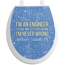 Engineer Quotes Toilet Seat Decal (Personalized)