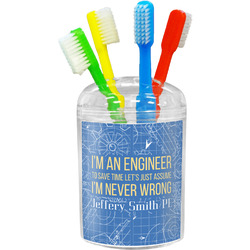 Engineer Quotes Toothbrush Holder (Personalized)