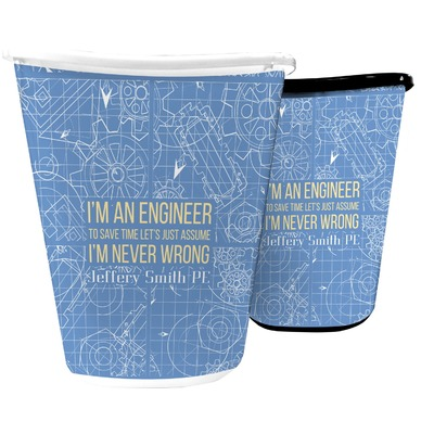 Engineer Quotes Waste Basket (Personalized)
