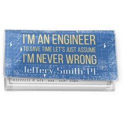 Engineer Quotes Vinyl Checkbook Cover (Personalized)