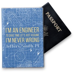 Engineer Quotes Vinyl Passport Holder (Personalized)