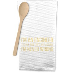 Engineer Quotes Waffle Weave Kitchen Towel (Personalized)