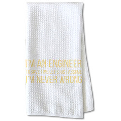 Engineer Quotes Waffle Weave Kitchen Towel - Partial Print (Personalized)