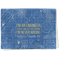 Engineer Quotes Waffle Weave Kitchen Towel - Full Print (Personalized)