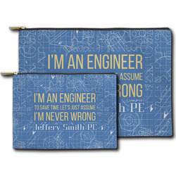 Engineer Quotes Zipper Pouch (Personalized)