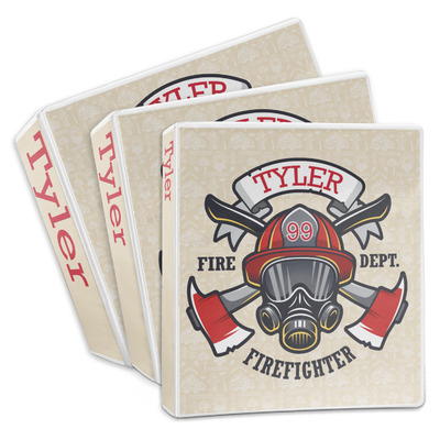 Firefighter 3-Ring Binder (Personalized)