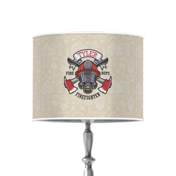 """Firefighter 8"""" Drum Lamp Shade - Poly-film (Personalized)"""