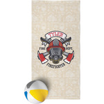 Firefighter Beach Towel (Personalized)