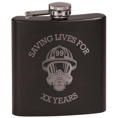Firefighter Black Flask Set (Personalized)