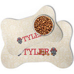 Firefighter Bone Shaped Dog Food Mat (Personalized)