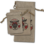 Firefighter Burlap Gift Bags (Personalized)
