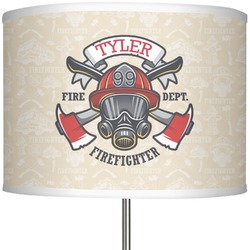 "Firefighter 13"" Drum Lamp Shade (Personalized)"