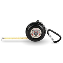 Firefighter Pocket Tape Measure - 6 Ft w/ Carabiner Clip (Personalized)