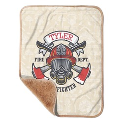 """Firefighter Sherpa Baby Blanket 30"""" x 40"""" (Personalized)"""