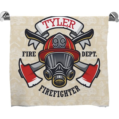 Firefighter Full Print Bath Towel (Personalized)