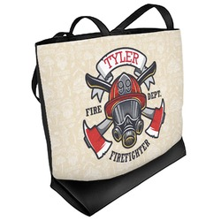 Firefighter Beach Tote Bag (Personalized)