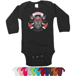 Firefighter Long Sleeves Bodysuit - 12 Colors (Personalized)