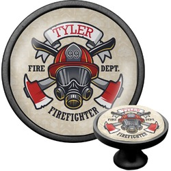 Firefighter Cabinet Knob (Black) (Personalized)