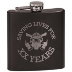 Firefighter Career Black Flask (Personalized)
