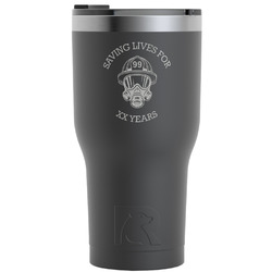 Firefighter RTIC Tumbler - Black (Personalized)