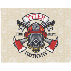 Firefighter Woven Fabric Placemat - Twill w/ Name or Text