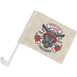 Firefighter Car Flag (Personalized)