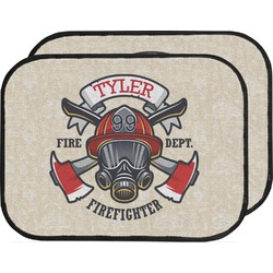 Firefighter Car Floor Mats (Back Seat) (Personalized)