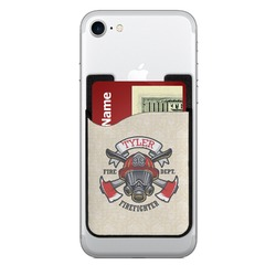 Firefighter 2-in-1 Cell Phone Credit Card Holder & Screen Cleaner (Personalized)