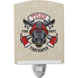 Firefighter Ceramic Night Light (Personalized)