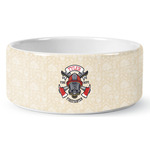 Firefighter Ceramic Dog Bowl (Personalized)