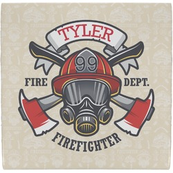 Firefighter Ceramic Tile Hot Pad (Personalized)